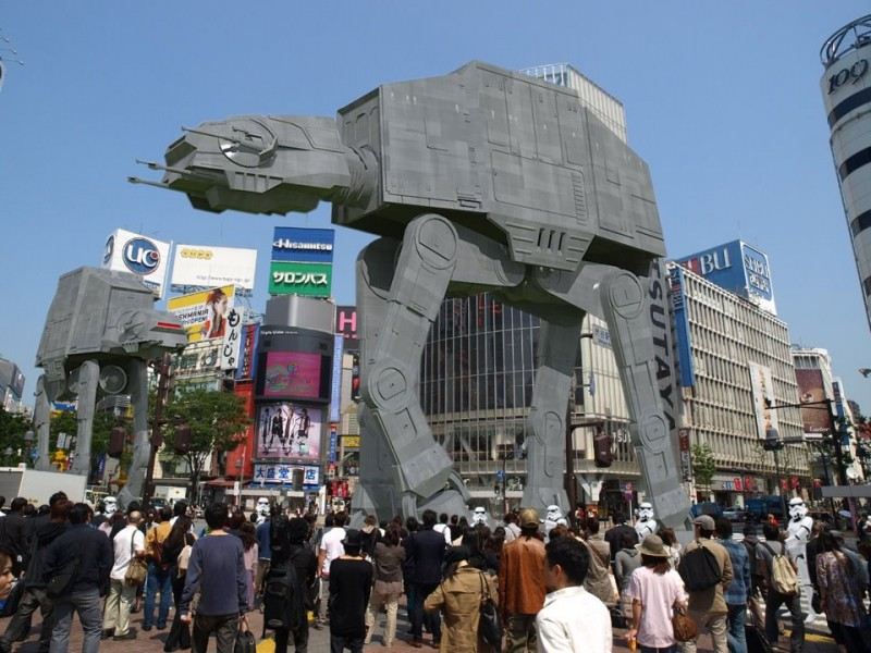"AT-AT in Shibuya ""SketchUp + Kerkythea with Ps"""
