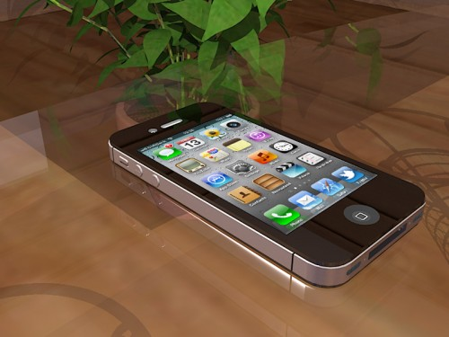 iPhone4S Rendering by kerkythea